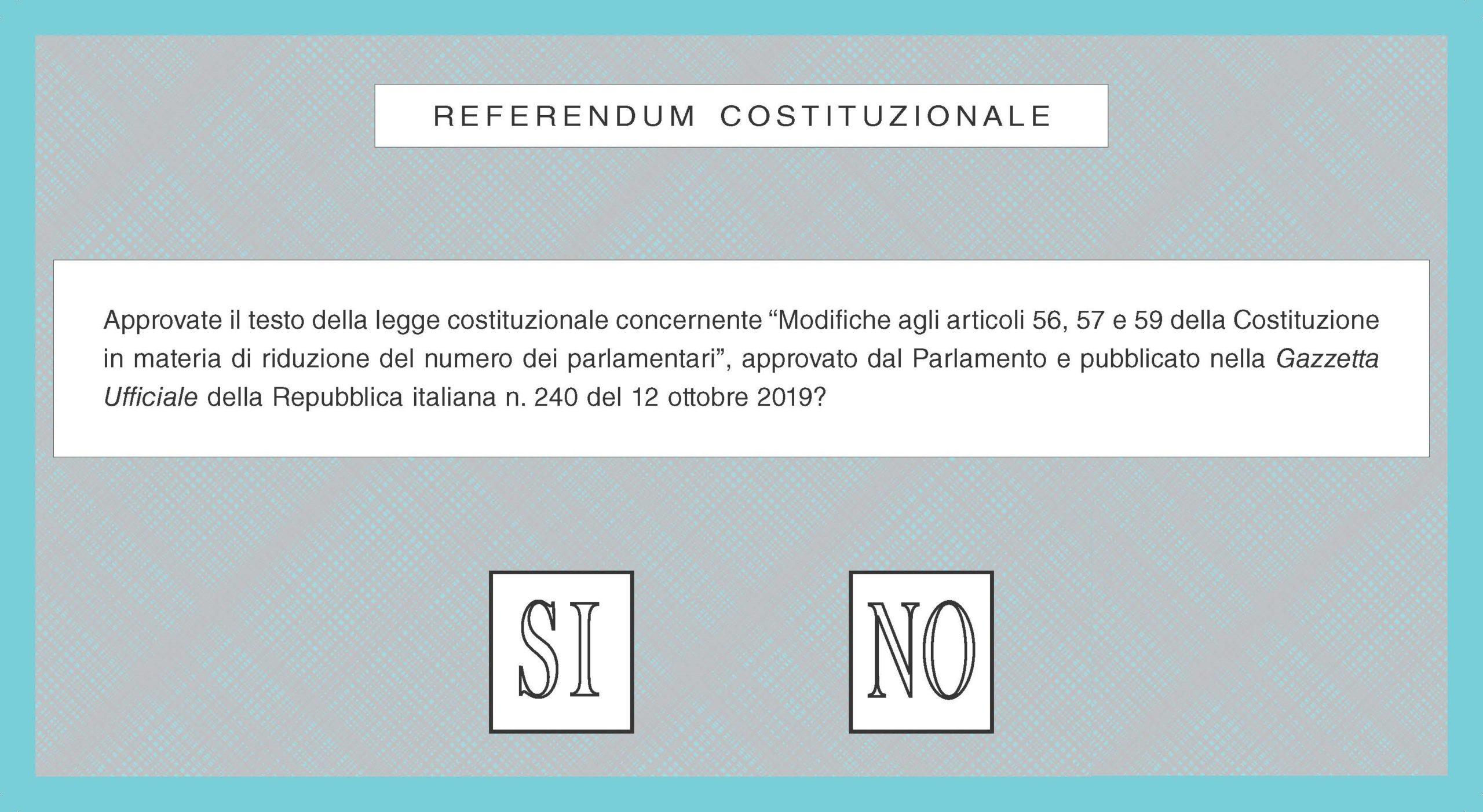 Risultati Referendum Costituzionale 2020
